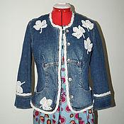Одежда ручной работы. Ярмарка Мастеров - ручная работа Жакет джинсовый декор бохо стиль. Handmade.