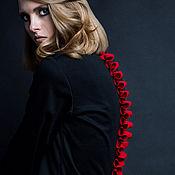 Одежда ручной работы. Ярмарка Мастеров - ручная работа SS2017 Черное платье с хребтом. Handmade.