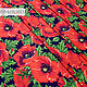 Red Poppies swim fabric, Fabric, Sergiev Posad,  Фото №1