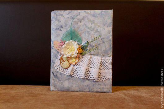 """Блокноты ручной работы. Ярмарка Мастеров - ручная работа. Купить Блокнот """"Нежность"""". Handmade. Голубой, блокнот с нуля, скрап бумага"""