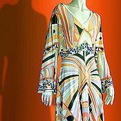 handmade. Livemaster - original item Knit-wear dress with kimono sleeve