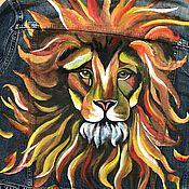 Одежда ручной работы. Ярмарка Мастеров - ручная работа Роспись рисунок на джинсовой куртке. Handmade.