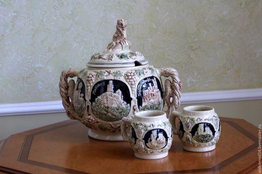 Винтажная посуда. Ярмарка Мастеров - ручная работа. Купить крушовница с 2 мя чашами. Handmade. Синий, краски