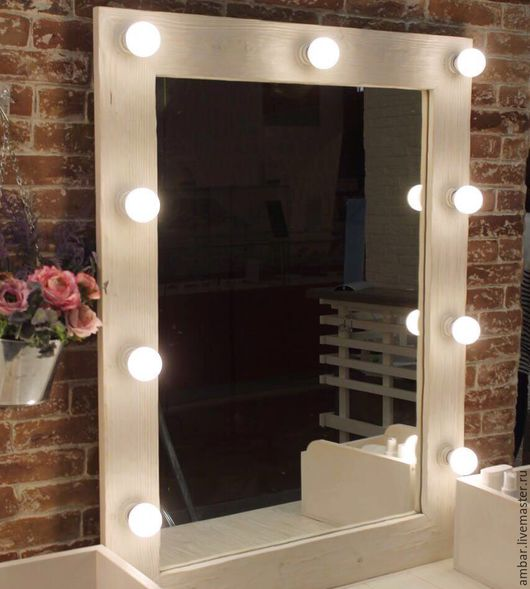 """Зеркала ручной работы. Ярмарка Мастеров - ручная работа. Купить Зеркало """"Мейк-ап"""". Handmade. Комбинированный, зеркало ручной работы"""