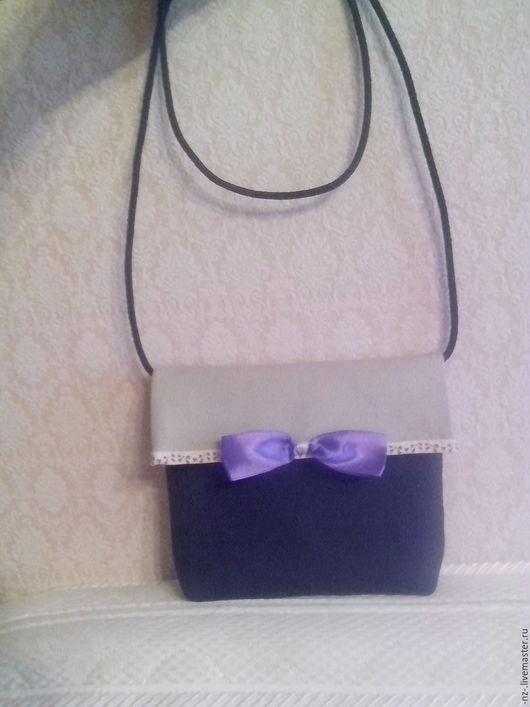 Женские сумки ручной работы. Ярмарка Мастеров - ручная работа. Купить Сумка детская. Handmade. Тёмно-фиолетовый, сумка детская