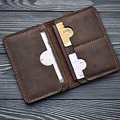 Cover handmade. Livemaster - original item Leather cover for  auto documents BROTHER. Handmade.