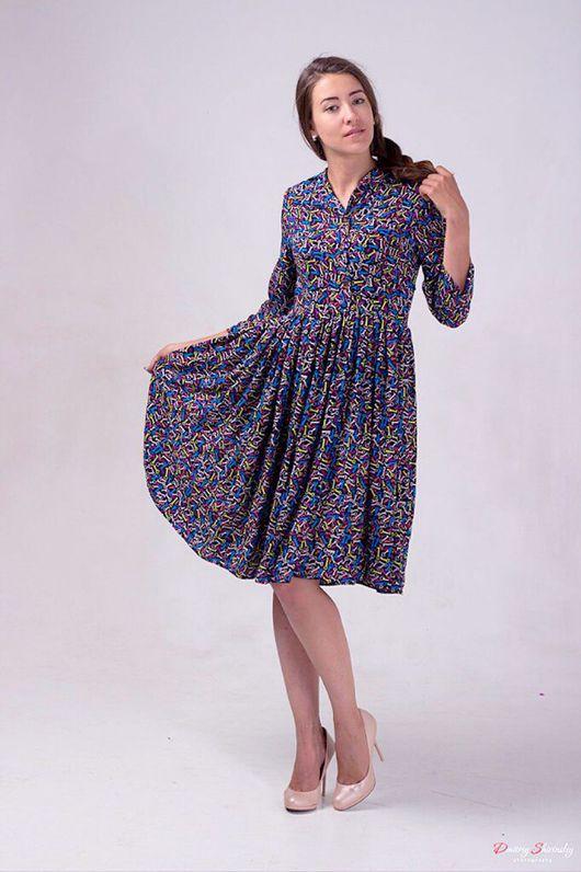 """Платья ручной работы. Ярмарка Мастеров - ручная работа. Купить Платье """"ключи"""". Handmade. Дизайнерская одежда, одежда для отдыха, штапель"""