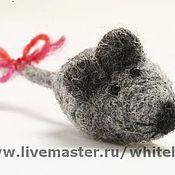 Украшения ручной работы. Ярмарка Мастеров - ручная работа Мышка серая. Handmade.