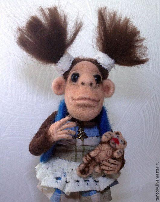 Коллекционные куклы ручной работы. Ярмарка Мастеров - ручная работа. Купить Модница. Handmade. Комбинированный, символ 2016 года, синий