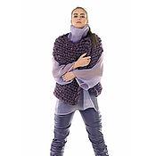 Одежда ручной работы. Ярмарка Мастеров - ручная работа Кейп-жилет вязаный  Giant Knit - модный тренд из новой коллекции. Handmade.