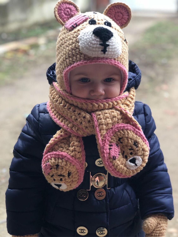 Набор «Мишка Teddy», Шапки, Краснодар,  Фото №1