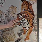 Для дома и интерьера handmade. Livemaster - original item Tibetan carpet panel Tiger 2 models. Handmade.