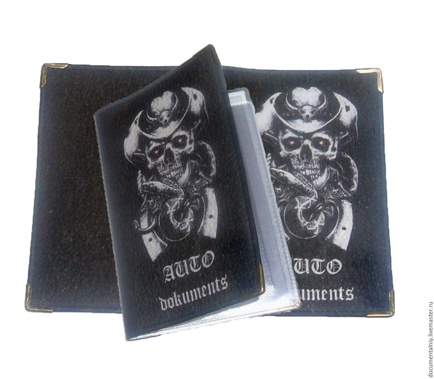 Covers handmade. Livemaster - handmade. Buy Cover for avtodokumentov, a series of 'Jolly Roger'.Cover, leather cover