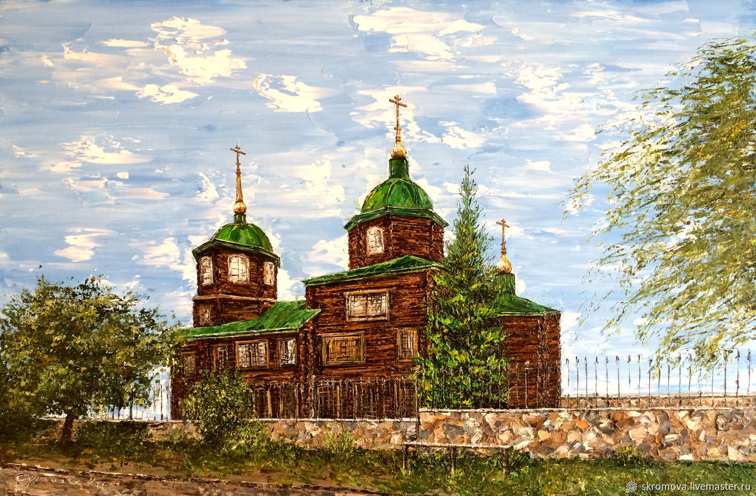 Oil painting of My town. Museum of Decembrists Church, Pictures, Moscow,  Фото №1