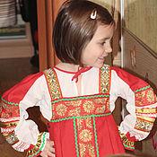 Работы для детей, ручной работы. Ярмарка Мастеров - ручная работа Костюм русский народный для девочки. Handmade.