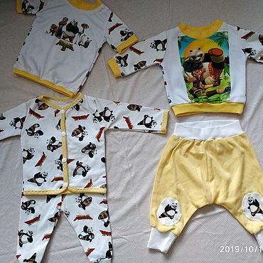 """Товары для малышей ручной работы. Ярмарка Мастеров - ручная работа Комплект для мальчика """"кунфу панда"""". Handmade."""