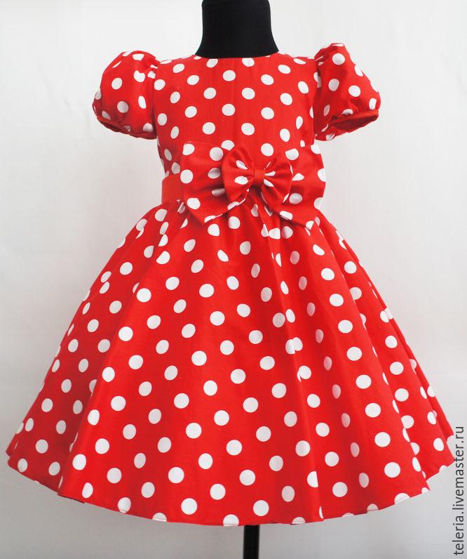 Платья в горошек для девочек
