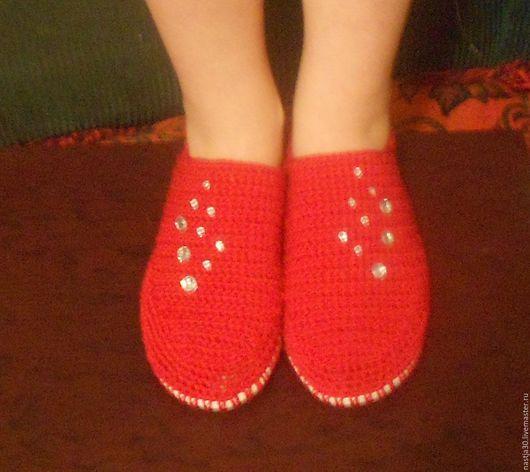 Обувь ручной работы. Ярмарка Мастеров - ручная работа. Купить Балетки. Handmade. Ярко-красный, балетки ручной работы