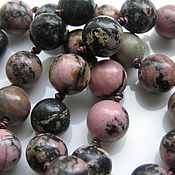 Материалы для творчества handmade. Livemaster - original item Rhodonite beads 10mm. Handmade.