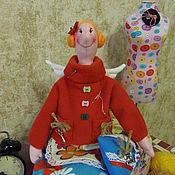 Куклы и игрушки ручной работы. Ярмарка Мастеров - ручная работа Швейная фея Стефания. По мотивам Тильда. Handmade.
