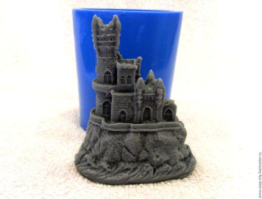 """Другие виды рукоделия ручной работы. Ярмарка Мастеров - ручная работа. Купить Силиконовая форма для мыла """"Замок"""". Handmade. Синий"""