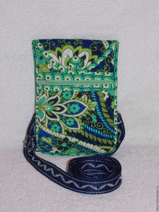 Для телефонов ручной работы. Ярмарка Мастеров - ручная работа. Купить Сумочка для телефона, Изумрудная, чехол для телефона с кармашком. Handmade.