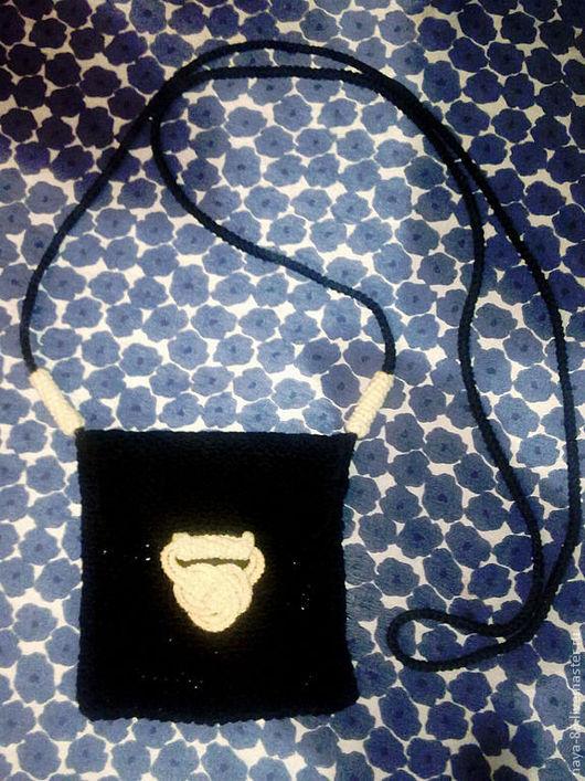 Для телефонов ручной работы. Ярмарка Мастеров - ручная работа. Купить Кельтский узел. Handmade. Черный, сумка ручной работы