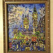 Картины и панно handmade. Livemaster - original item Bright life in London. Handmade.
