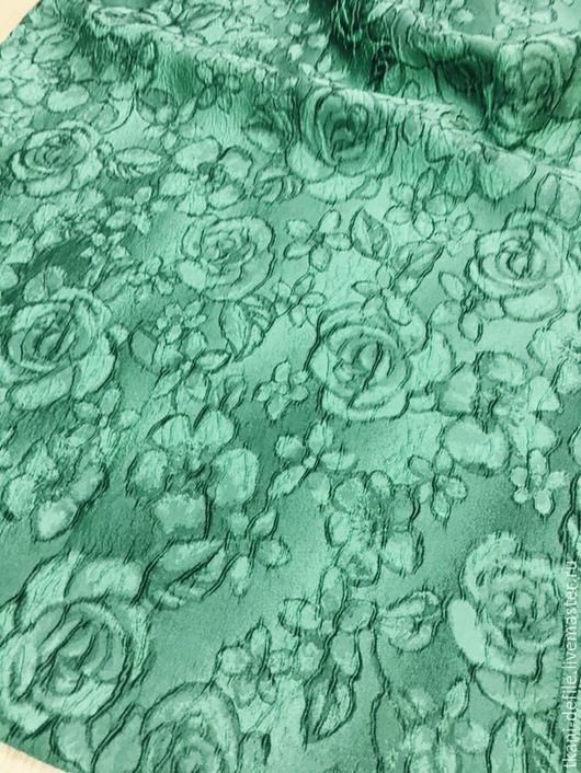 Шитье ручной работы. Ярмарка Мастеров - ручная работа. Купить Жаккард. Handmade. Морская волна, ткани Италии, итальянская ткань