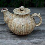 Чайники ручной работы. Ярмарка Мастеров - ручная работа Чайник керамический в пятнышку. Handmade.
