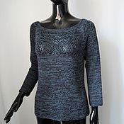Одежда handmade. Livemaster - original item Cotton jumper with viscose. Handmade.