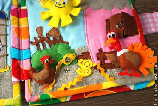 Развивающие игрушки ручной работы. Ярмарка Мастеров - ручная работа. Купить Развивающая книжка из фетра Утиная ферма. Handmade. для детей