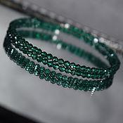Украшения handmade. Livemaster - original item Sparkling green natural spinel bracelet with cut. Handmade.
