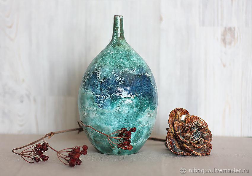 Ваза-бутыль керамическая Пена дней, Вазы, Москва,  Фото №1