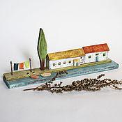 Подарки к праздникам handmade. Livemaster - original item Miniature. HOUSES. Sea song. Village by the sea. Handmade.