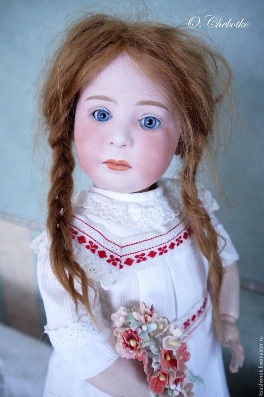 Одежда для кукол ручной работы. Ярмарка Мастеров - ручная работа. Купить Платье для немецкой антикварной куклы. Handmade. Белый, кнопки