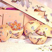 Подарки к праздникам handmade. Livemaster - original item Set of Christmas balls-boxes in the box. gift 2017. Handmade.