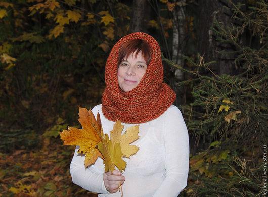 """Шарфы и шарфики ручной работы. Ярмарка Мастеров - ручная работа. Купить Очень теплый снуд-шарф меланж """"Краски осени"""" (полушерсть). Handmade."""