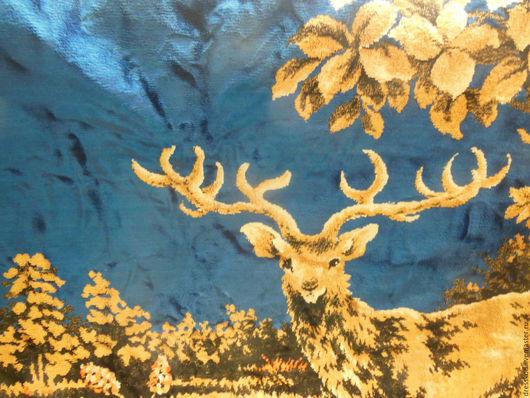 Винтажные предметы интерьера. Ярмарка Мастеров - ручная работа. Купить Ковёр плюш  сказочный старинный. Handmade. Комбинированный, Праздник, ткань