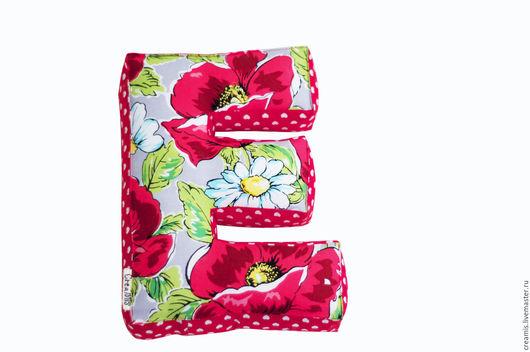 Текстиль, ковры ручной работы. Ярмарка Мастеров - ручная работа. Купить Мягкая буква Е. Handmade. Ярко-красный