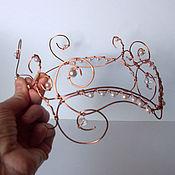 Украшения ручной работы. Ярмарка Мастеров - ручная работа Диадема с жемчужными бусинами. Handmade.
