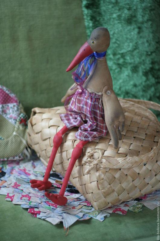 Ароматизированные куклы ручной работы. Ярмарка Мастеров - ручная работа. Купить аист Тихон. Handmade. Бежевый, интерьерное украшение, кофе