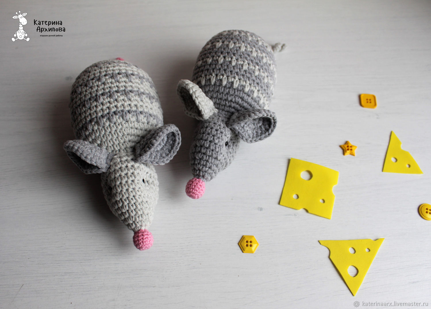 Small, knitted mouse!, Stuffed Toys, Kirovsk,  Фото №1