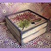 Для дома и интерьера ручной работы. Ярмарка Мастеров - ручная работа чайная коробочка лаванда. Handmade.
