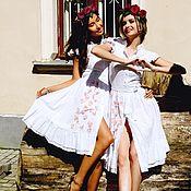 Одежда ручной работы. Ярмарка Мастеров - ручная работа Шитье белое платье. Handmade.