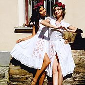 Одежда handmade. Livemaster - original item Sewing white dress. Handmade.