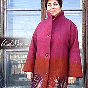 """Одежда ручной работы. Ярмарка Мастеров - ручная работа Валяное пальто """"Осенний узор"""". Handmade."""