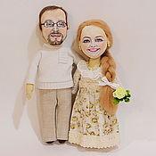Куклы и игрушки ручной работы. Ярмарка Мастеров - ручная работа Портретные куколки-мини( семейная пара). Handmade.
