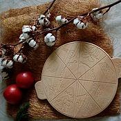 Доски ручной работы. Ярмарка Мастеров - ручная работа Доска для пиццы. Handmade.