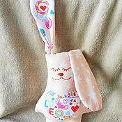 Мягкие игрушки ручной работы. Ярмарка Мастеров - ручная работа Заяц сплюшка. Handmade.